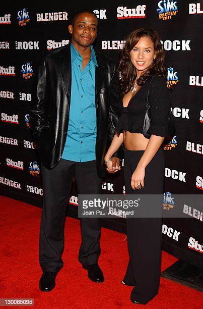 Dule Hill and Nicole Lyn during STUFF Magazine and Blender Host Kid Rock's After Party For The 2003 American Music Awards Red Carpet/Inside at...