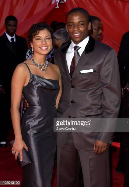 Dule Hill and Nicole Lyn during The 54th Annual Primetime Emmy Awards Arrivals at The Shrine Auditorium in Los Angeles California United States