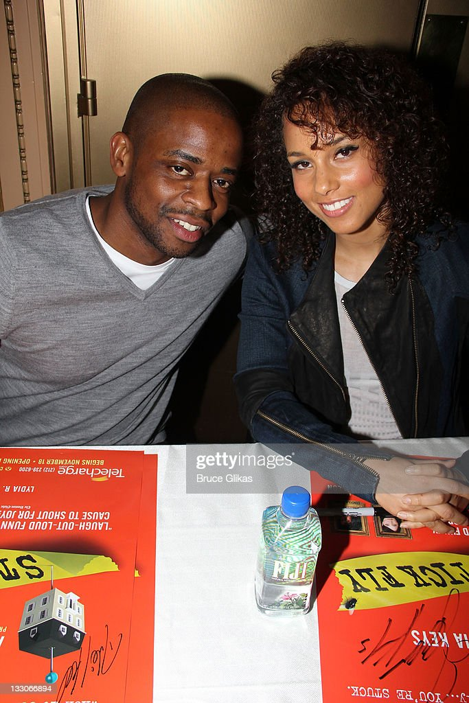 Stick fly meet and greet at cort theatre on dule hill and producer alicia keys attend the stick fly meet and greet at m4hsunfo