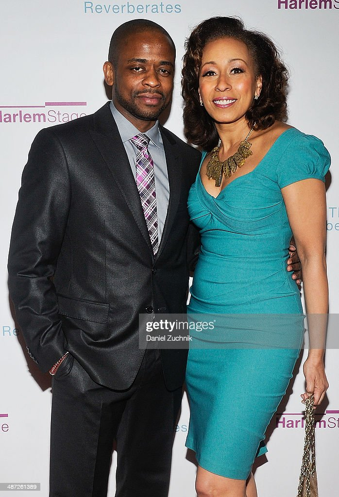Dule Hill and Tamara Tunie attend the Harlem Stage 2014 Spring Gala at Harlem Stage Gatehouse on April 28, 2014 in New York City.