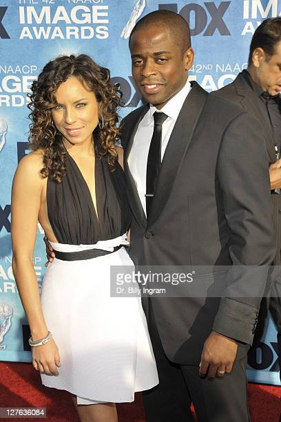 Dule Hill and wife Nicole Lyn attend the 42nd NAACP Image Awards Arrivals at The Shrine Auditorium on March 4 2011 in Los Angeles California
