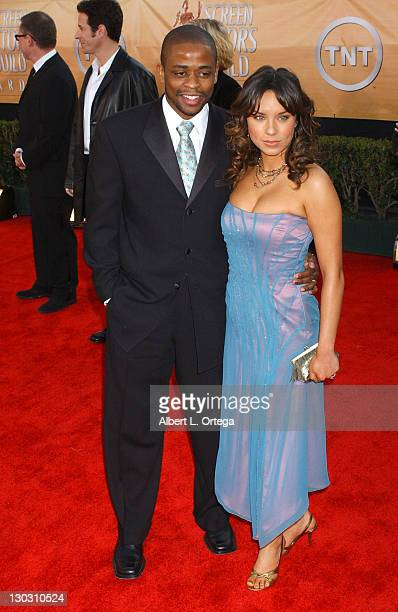 Dule Hill and wife Nicole Lyn during 11th Annual Screen Actors Guild Awards Arrivals at Shrine Auditorium in Los Angeles California United States