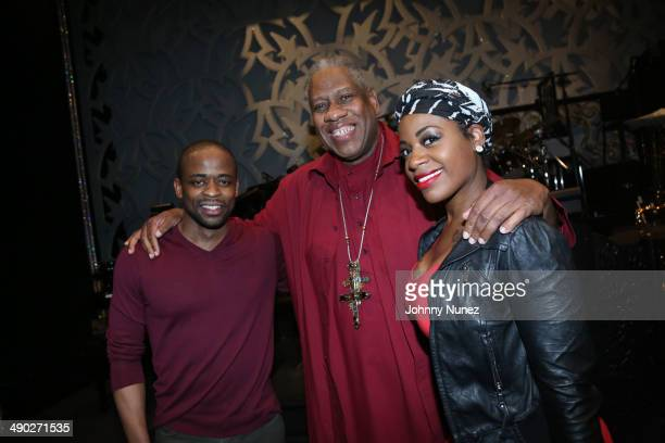 Dule Hill Andre Leon Tally and Fantasia attend Fantasia's return to 'After Midnight' at The Brooks Atkinson Theatre on May 13 2014 in New York City