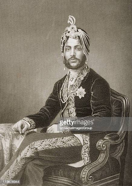 Duleep Singh Maharajah of Lahore18371893Engraved by DJ Pound from a photograph by Mayall From the book The DrawingRoom Portrait Gallery of Eminent...