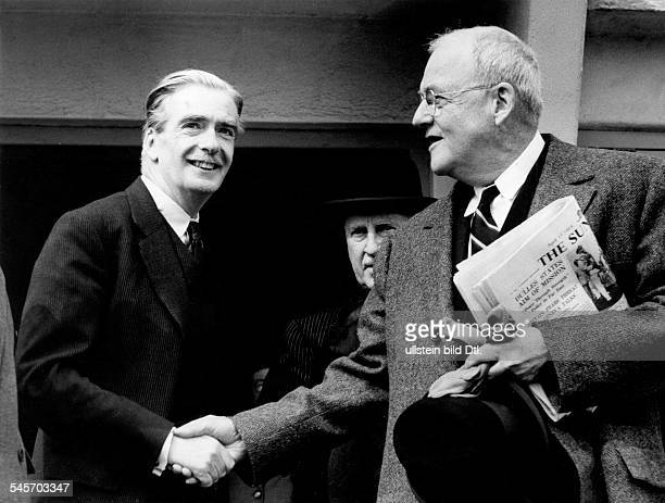 Dulles John Foster *25021888Politician USAForeign minister 195359 meets the British Foreign minister Anthony Eden in London