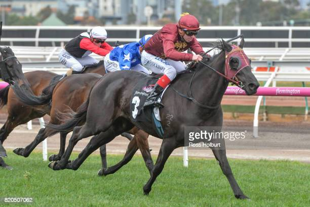 Dulverton ridden by Brandon Stockdale wins the Wilson Medic One Rising Stars Final at Flemington Racecourse on July 22 2017 in Flemington Australia