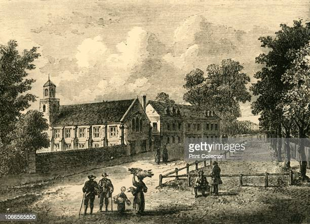 Dulwich College in 1750', . View of the boys' public school in south-east London which was founded in 1619 by Edward Alleyn, an Elizabethan actor,...