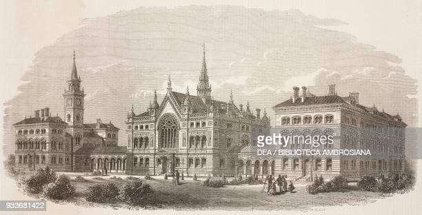 Dulwich College, London, United Kingdom, illustration from the magazine The Illustrated London News, volume LV, October 23, 1869.