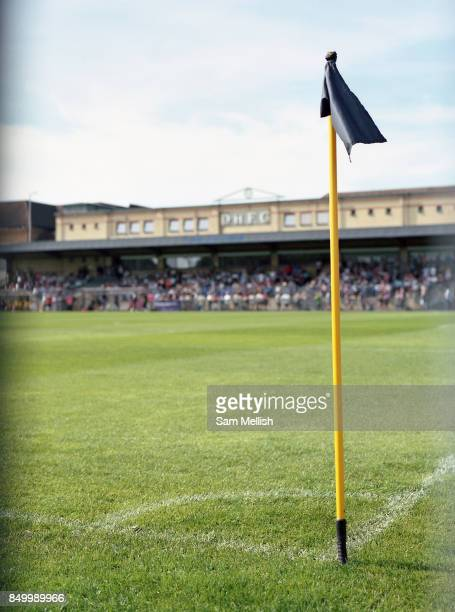 Dulwich Hamlet FC Vs Tooting Mitcham United FC 'South London Derby' on August bank holiday Monday on 28th August 2017 in London United Kingdom Both...