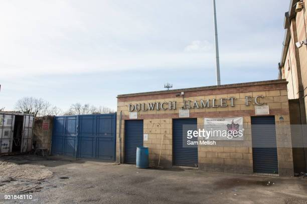 Dulwich Hamlet Football Club on 14th March 2018 in East Dulwich South London in the United Kingdom Meadow Residential an American property investment...