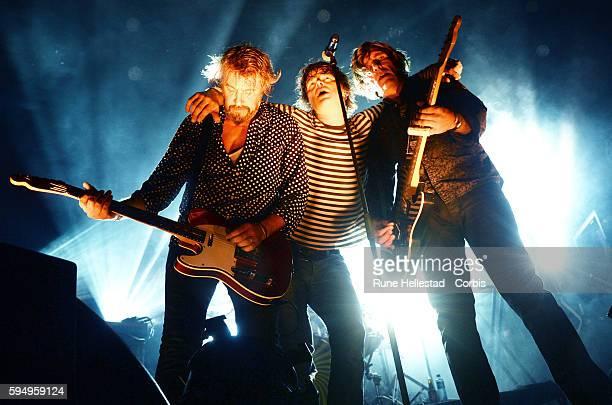 Dum Dum Boys perform at Festivalen Sin at Verket on August 19 2016 in Moss Norway