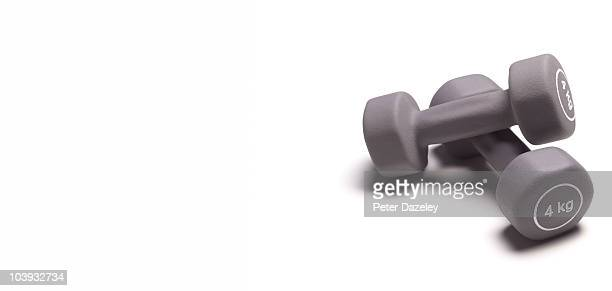 Dumbbells with copy space