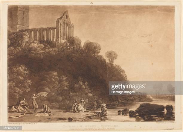Dumblain Abbey, published 1816. Artist JMW Turner.