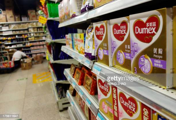 Dumex baby formula from a batch that has been declared safe and which uses the New Zealand dairy Fonterra as its raw material supplier is pictured on...