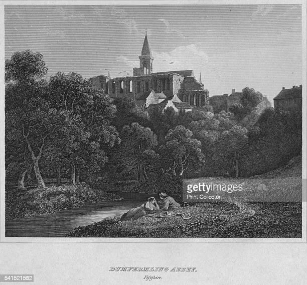 Dumfermline Abbey Fifeshire' 1814 From The Border Antiquities of England and Scotland Vol II by Walter Scott Esq [Longman Co London 1814] Artist John...