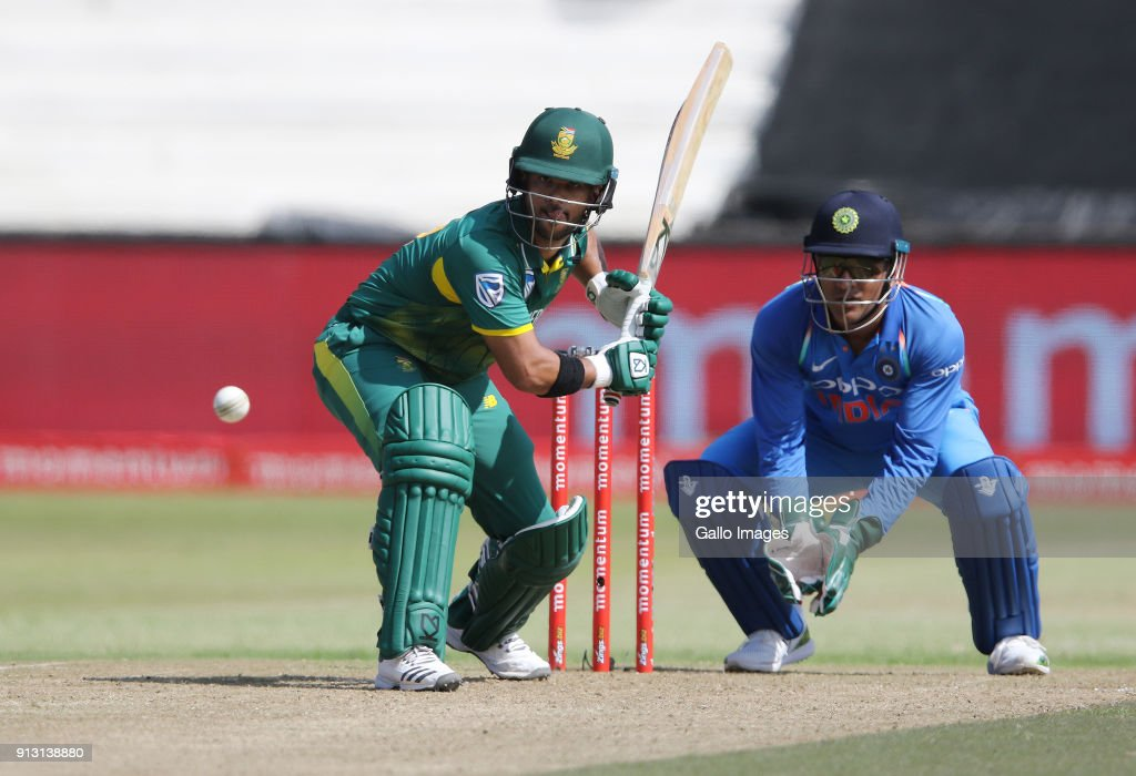 JP Duminy in action during the 1st Momentum ODI match between South Africa and India at Sahara Stadium Kingsmead on February 01, 2018 in Durban, South Africa.