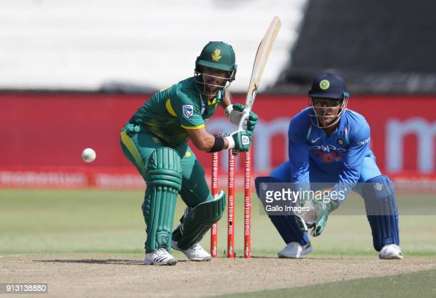 Duminy in action during the 1st Momentum ODI match between South Africa and India at Sahara Stadium Kingsmead on February 01 2018 in Durban South...