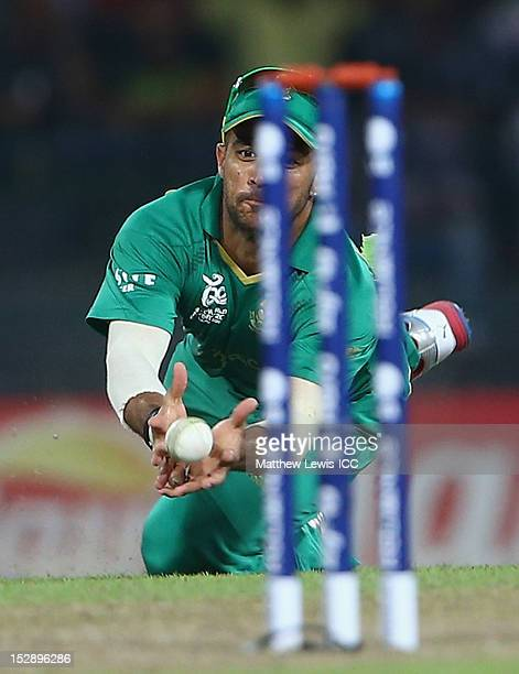 Duminy of South Africa catches Yasir Arafat of Pakistan during the ICC World Twenty20 2012 Super Eights Group 2 match between Pakistan and South...