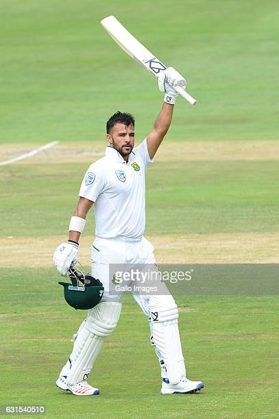 Duminy of South Africa celebrates his 100 runs during day 1 of the 3rd test between South Africa and Sri Lanka at Bidvest Wanderers Stadium on...