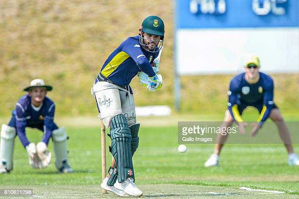 Duminy of the Proteas bats during the South African national cricket team training session at St Stithians College on September 27 2016 in...