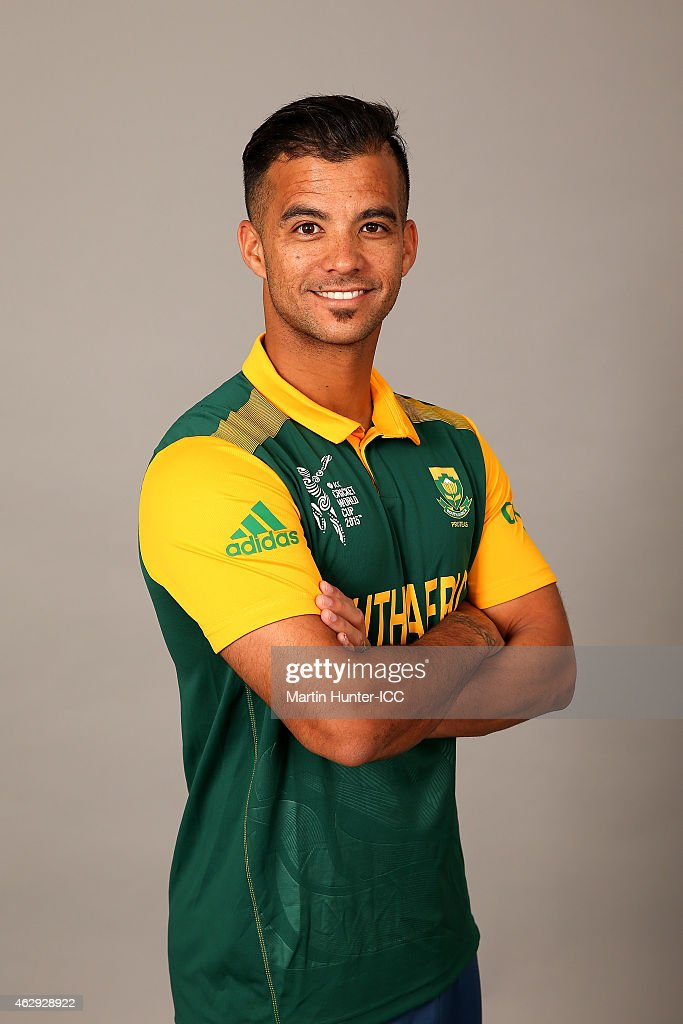JP Duminy poses during the South Africa 2015 ICC Cricket World Cup Headshots Session at the Rydges Latimer on February 7, 2015 in Christchurch, New Zealand.