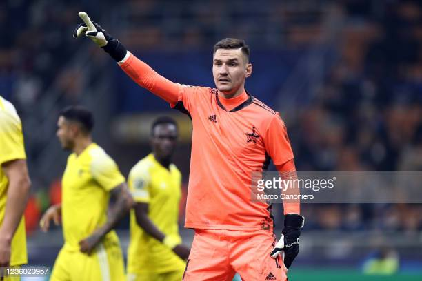 Dumitru Celeadnic of FC Sheriff gestures during the Uefa Champions League Group D match between FC Internazionale and FC Sheriff. Fc Internazionale...