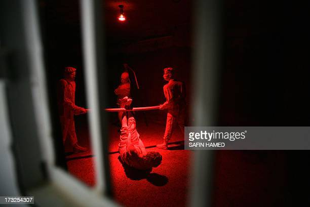 DECAMME Dummies showing a scene of torture are displayed in a cell at a former torture centre that was turned into a museum named 'National Museum In...