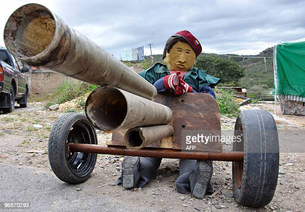 A dummy alluding to the military coup in Honduras is on display at a street in Germania about 15 km south of Tegucigalpa on December 30 2009 At year...