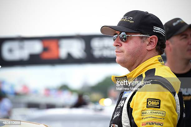 Dumoulin driver of the Spectra Premium, Bernier Crepeau, Groupe Bellemare, MIA Dodge prior to the start of the NASCAR Canadian Tire Series Presented...