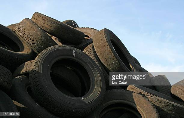 dump of tires - scrap metal stock photos and pictures