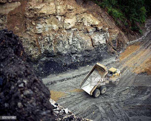 Dump truck at a surface mine