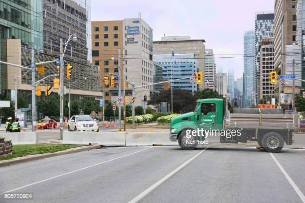 Dump trucks filled with sand and concrete barriers are part of the heightened security measures to prevent ISISstyle vehicle attacks as Canadians...