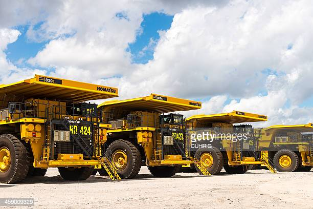 Dump Trucks Parked up due to recession