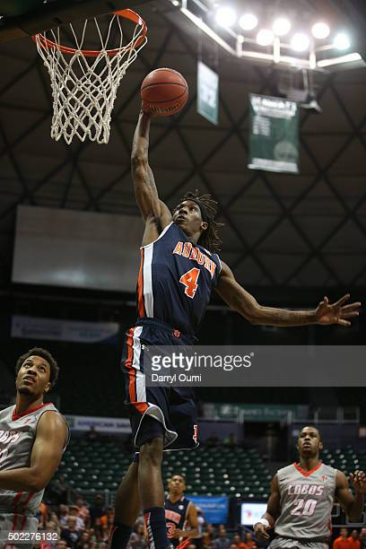 J Dunans of the Auburn Tigers shoots the ball against the New Mexico Lobos at the Stan Sheriff Center during the Diamond Head Classic on December 22...