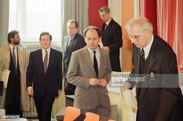 Dunblane Scotland 13th March 1996 News Press Conference with Raymond Robertson Education chief for Central Scotland Michael Forsyth Scottish...