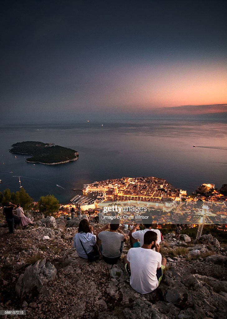Dunbrovnik sunset : Stock Photo