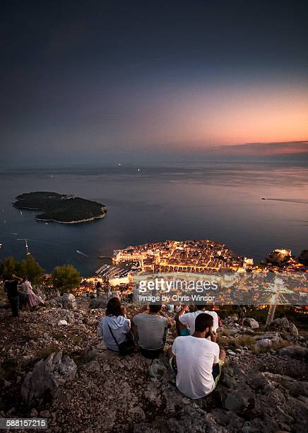 dunbrovnik sunset - croatia stock pictures, royalty-free photos & images