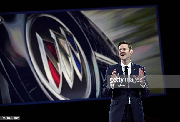 Duncan Aldred Vice President of Global Buick Sales Service and Marketing reveals the Buick Avista Concept to the news media on the eve of the 2016...