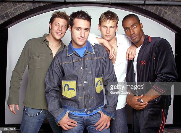 Duncan Anthony Lee Ryan and Simon of BLUE in London Photo by Gareth Davies/Mission Pictures/Getty Images