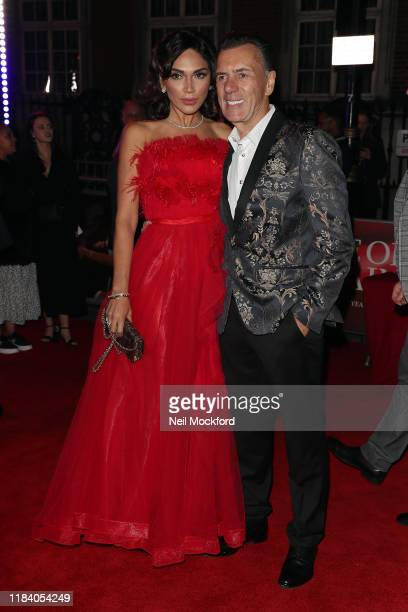 Duncan Bannatyne and Nigora Whitehorn arrive on the red carpet of Pride of Britain 2019 at Grosvenor House Hotel on October 28 2019 in London England