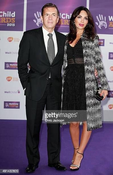 Duncan Bannatyne and Nigora Whitehorn arrives at the WellChild Awards at the London Hilton on October 5 2015 in London England