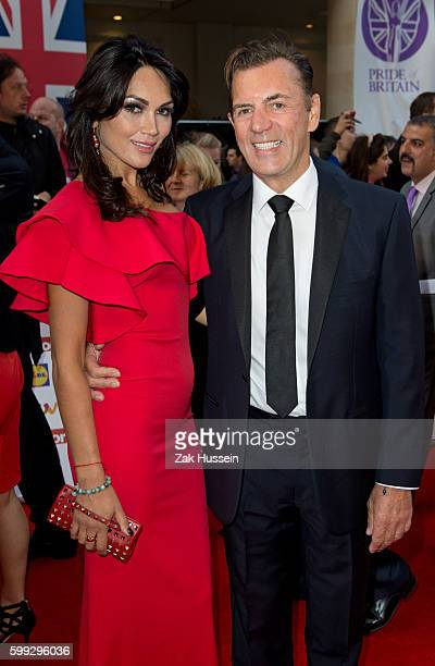 Duncan Bannatyne and Nigora Whitehorn arriving at the 2015 Pride of Britain Awards at the Grosvenor House Hotel in London