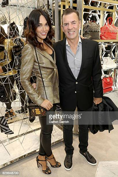 Duncan Bannatyne and Nigora Whitehorn attend a cocktail party to celebrate the opening of the Philipp Plein London Boutique on December 15 2016 in...