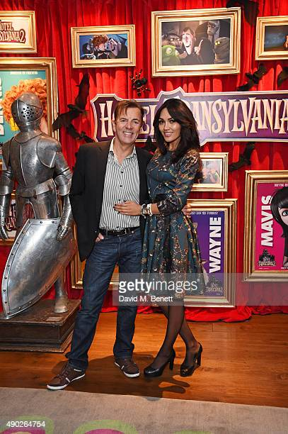 Duncan Bannatyne and Nigora Whitehorn attend a gala screening of Hotel Transylvania 2 at The Soho Hotel on September 27 2015 in London England