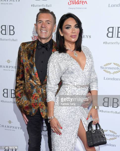 Duncan Bannatyne and Nigora Whitehorn attend the Butterfly Ball 2019 at The Grosvenor House Hotel on June 13 2019 in London England