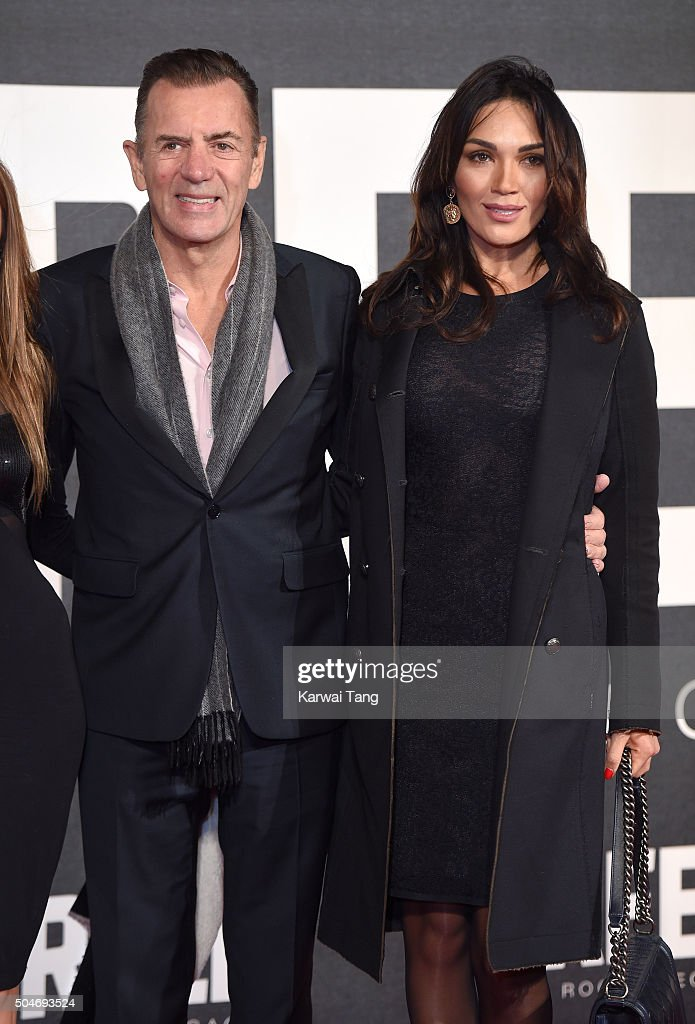 Duncan Bannatyne and Nigora Whitehorn attend the European Premiere of 'Creed' on January 12, 2016 in London, England.