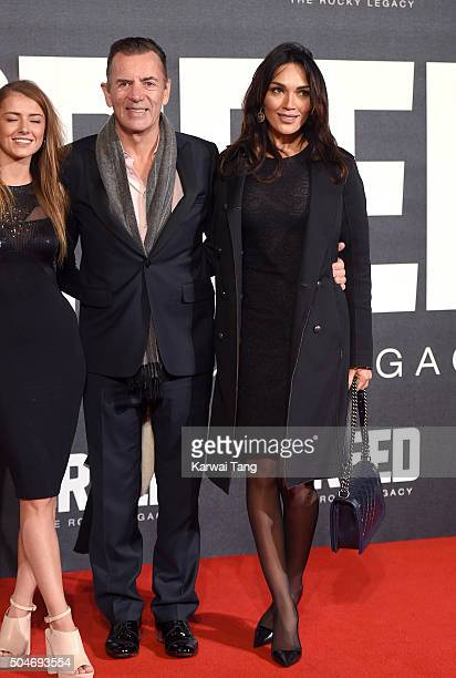 Duncan Bannatyne and Nigora Whitehorn attend the European Premiere of Creed on January 12 2016 in London England