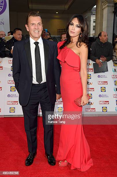 Duncan Bannatyne and Nigora Whitehorn attend the Pride of Britain awards at The Grosvenor House Hotel on September 28 2015 in London England