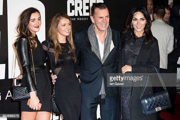 Duncan Bannatyne Nigora Whitehorn and guests attend the European Premiere of Creed at the Empire cinema Leicester Square on January 12 2016 in London...