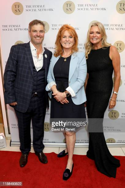 Duncan Bendall Sarah Ferguson Duchess of York and Fi Bendall attend the UK launch of The Female Social Network at The Ivy on June 26 2019 in London...
